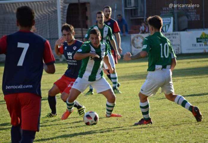 Imagen del partido en Cebreros con victoria con gol de Lucho