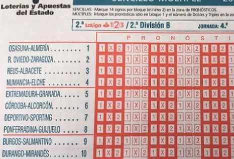 Quiniella con equipos de Castilla y León